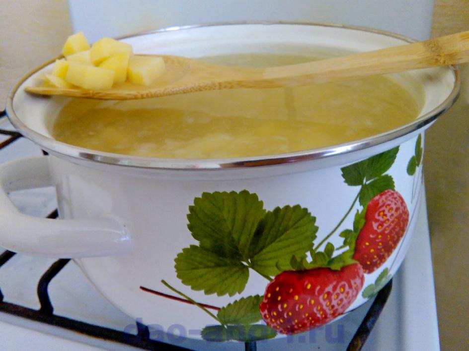 Бланшируем картофель перед тем как засушить
