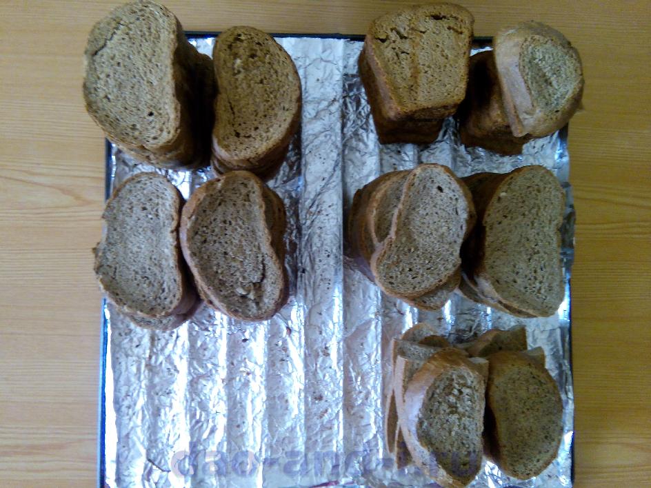 Высушенный хлеб для похода