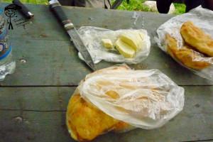 Сыр и хлеб Чегемского ущелья