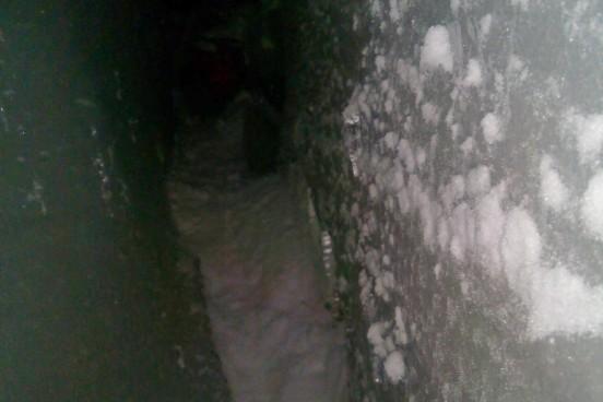 Трещина в леднике Эльбрус