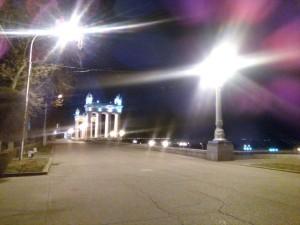 Пустая набережная Волгограда