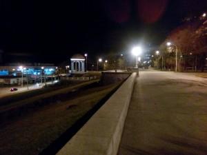 Набережная Волгограда в декабре