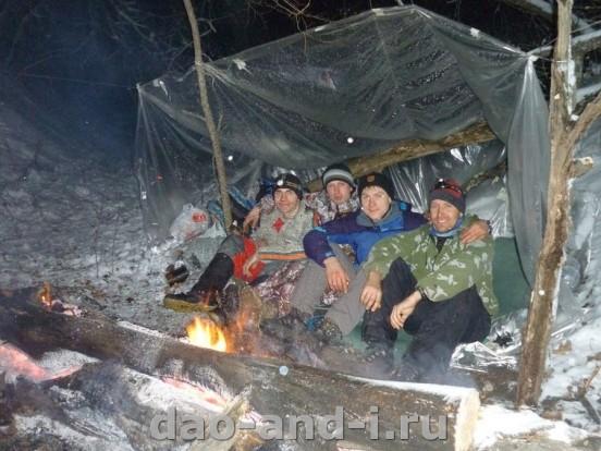 Зимняя ночёвка в лесу