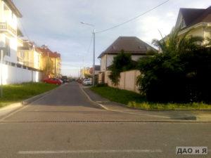 Переулок Кувшинок в поселке Мирный