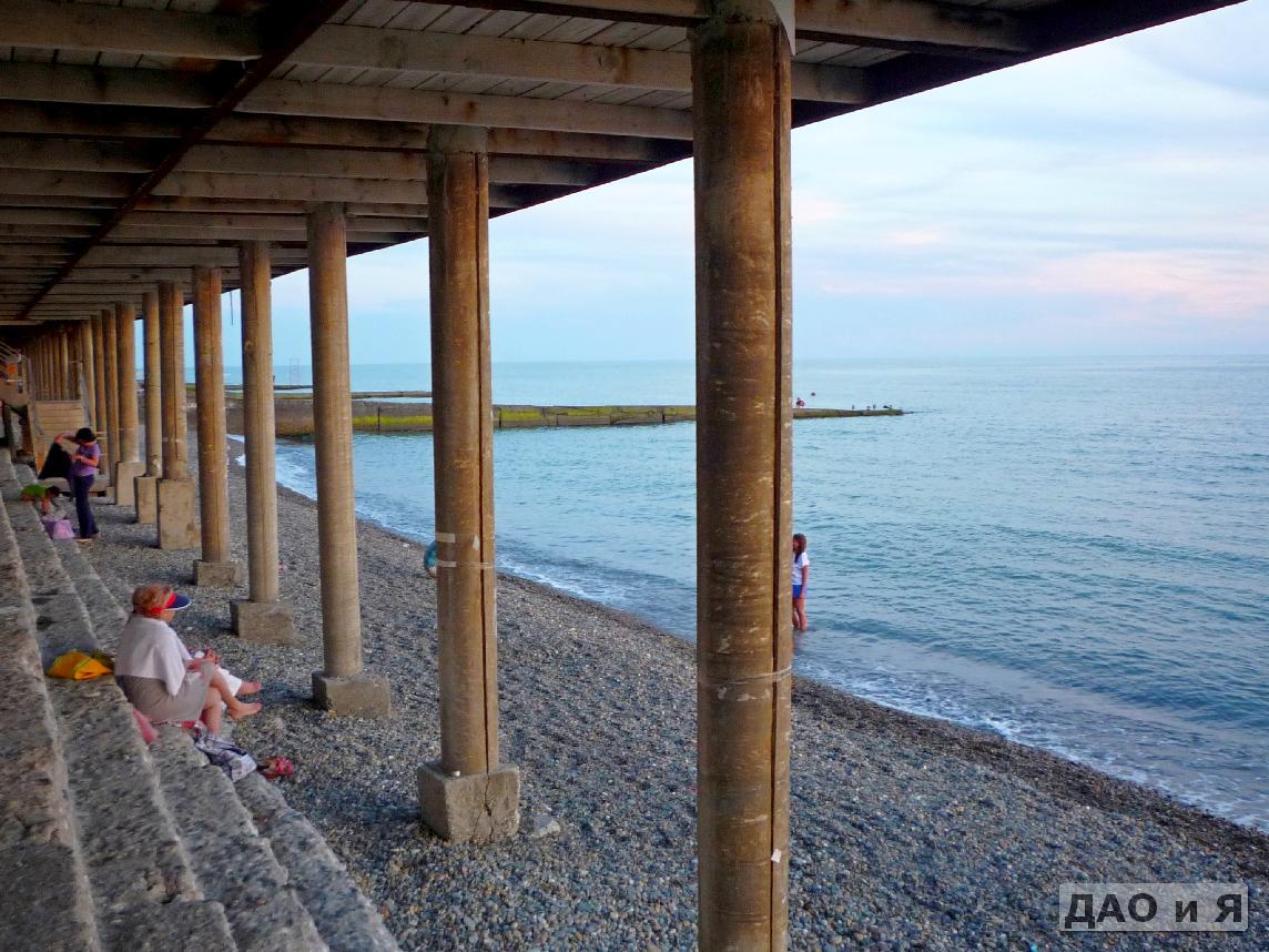 Пляж южный адлер фото