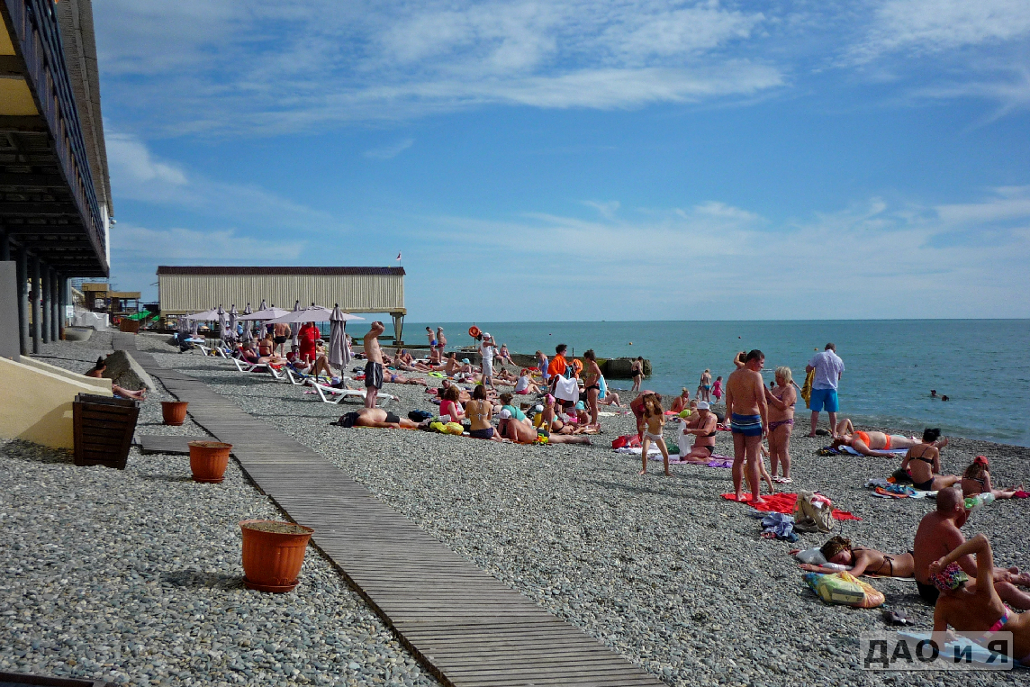Пляжи Адлера и Курортного городка