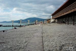 Правая сторона пляжа Коралл