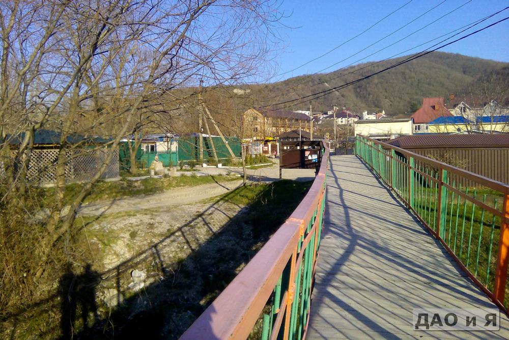Мост через реку Тешебс в районе Мельницы