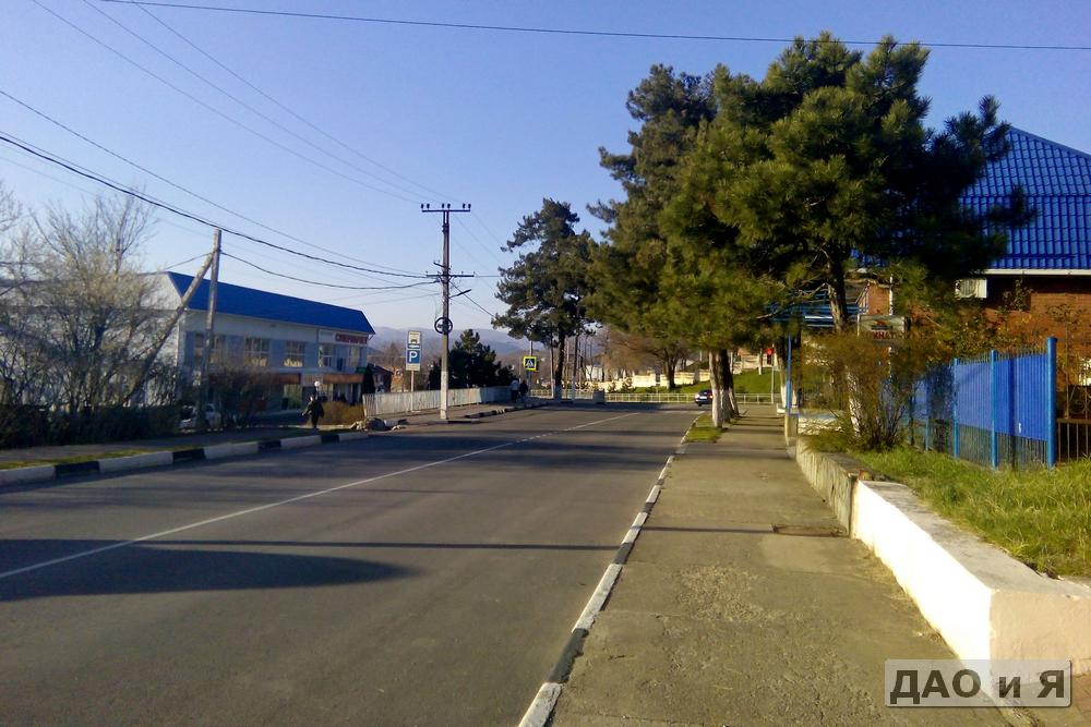 Начало улицы Пограничная