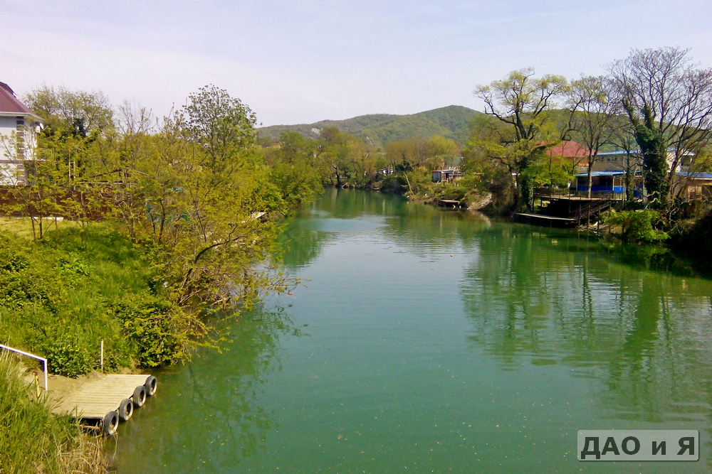 Вид на Вулан слева от моста