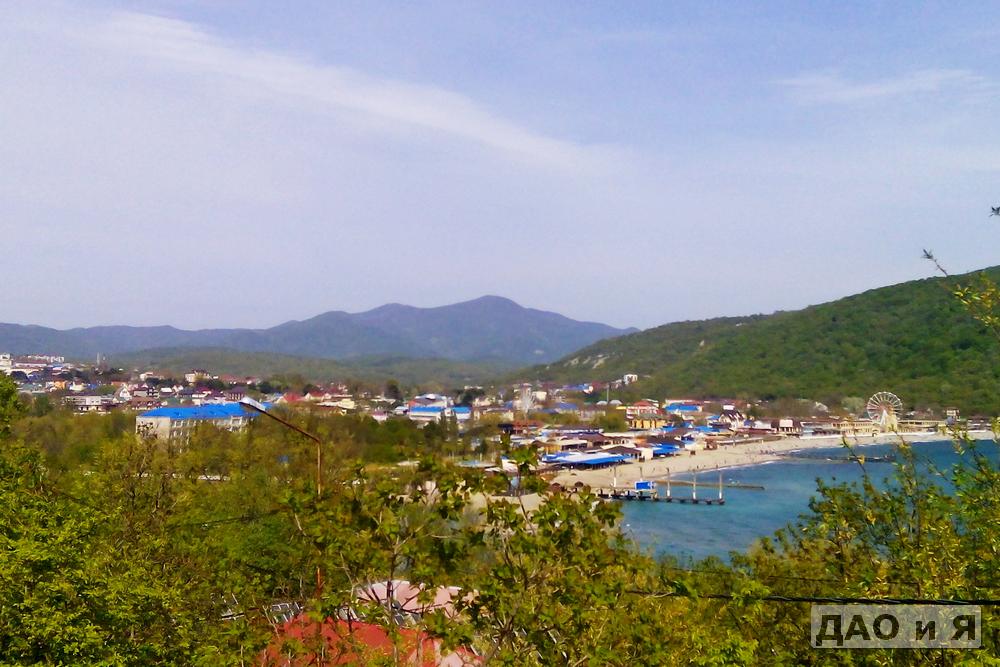 Вид на Архипо-Осиповку и пляж