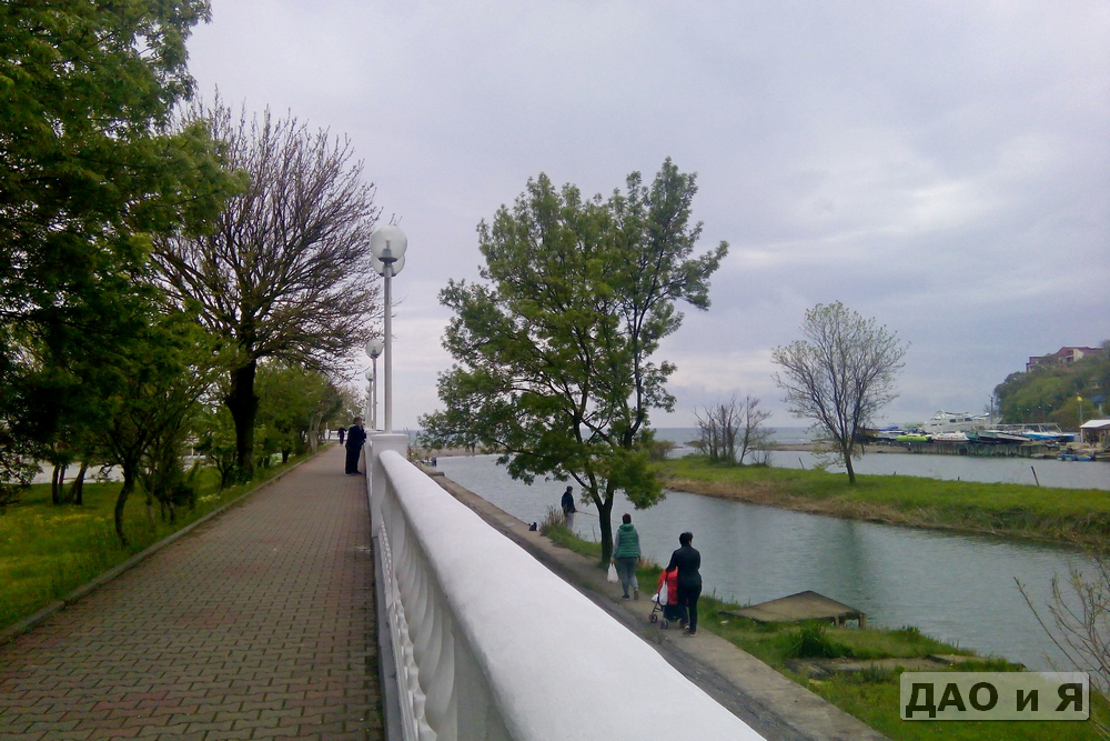 Начало набережной в Архипо-Осиповке