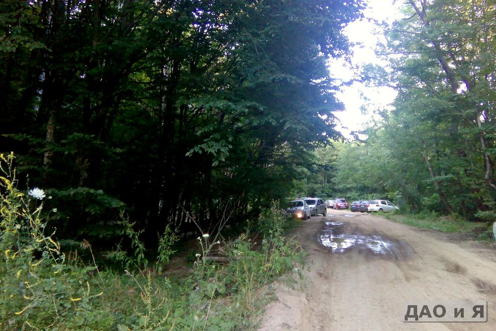 Начало грунтовки по дороге на Красные скалы