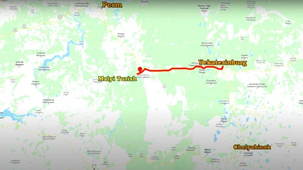 Расположение деревни Малый Турыш относительно крупных городов